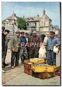 Modern Postcard Honfleur fishing Back