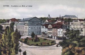 GOTHA, Arnoldiplatz mit Blick auf Schloss, Thuringia, Germany, 00-10s