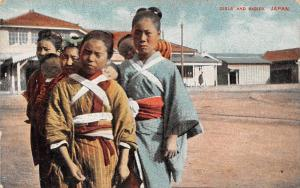 Japan Girls and Babies, Native Children