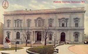 Baltimore Maryland~Peabody Institute Conservatory~Johns Hopkins~City Seal~1911