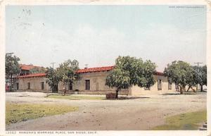 SAN DIEGO CA RAMONA'S MARRIAGE PLACE POSTCARD c1913