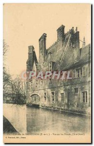 Old Postcard Chateau de Maintenon E and L View Fosses West Coast