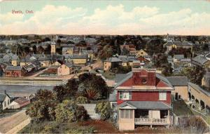 Perth Ontario Canada panoramic birds eye view of area antique pc Z26349