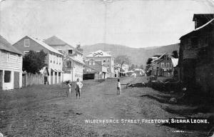 Sierra Leone Freetown Wilberforce Street 1906