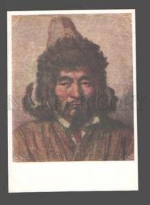 083670 RUSSIAN ASIA Kazakh man in hat by Vereschagin Old PC