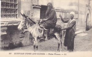 Native Woman , Egyptian Types & Scenes , EGYPT , 00-10s ; Donkey