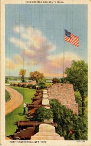 NY - Fort Ticonderoga. South Wall, Flag Bastian