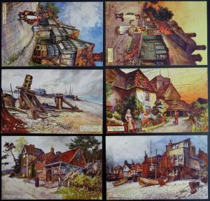 Kent Set of 6 KENT PICTURESQUE COUNTIES c1904 Postcard by Raphael Tuck 7115