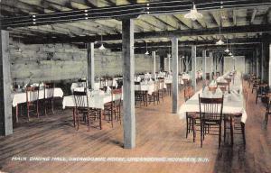 Uncanoonuc Mountain New Hampshire Uncanoonuc Hotel Dining Hall Postcard J78166