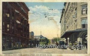 Ave C, Houston Street San Antonio TX 1922