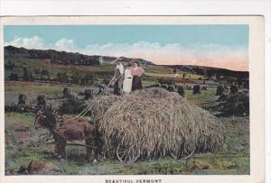 Vermont Haymaking Scene 1924