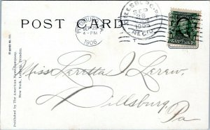 1906 PITTSBURG PENNSYLVANIA POSTMARK to DILLSBURG Lerew Postcard Cover IO