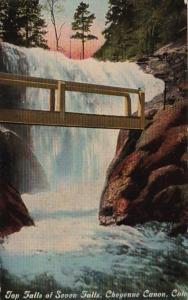 Colorado Colorado Springs Top Falls Of Seven Falls Cheyenne Canon