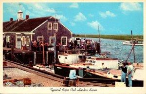 Massachusetts Cape Cod Typical Harbor Scene 1964