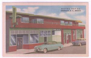 Hotel Royal Car Ensenada Mexico linen postcard
