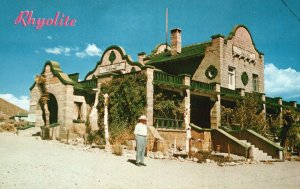 Rhyolite, Nevada, NV, Depot, Ghost City, Chrome Vintage Postcard g5465