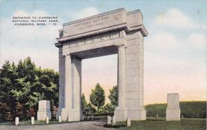 Mississippi Vicksburg Entrance To Vicksburg National Military Park