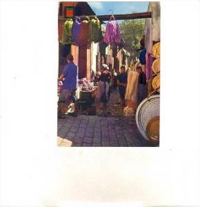Sebbaghine Dyers, Los Tintureros Sebbaghine, Fes, Morocco, Africa, 1950-70s