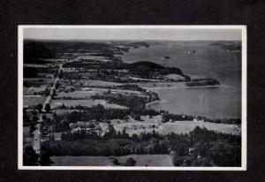 ME Brook's Bluff Cottages Cabins Robbinston Maine near Calais Postcard