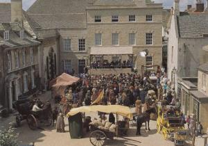 Filming at Hustings Market Middlemarch TV Show Stamford Lincolnshire Postcard
