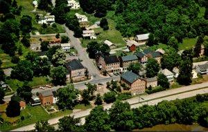 Ohio Coshocton Aerial View Roscoe Village