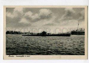400799 ITALY BRINDISI military Submarine Vintage postcard
