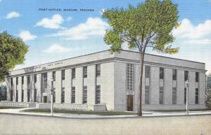 Marion Indiana~Post Office~1940 Postcard