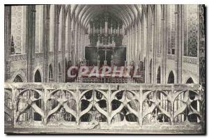 Postcard Old Albi Interior of the Cathedral Organ