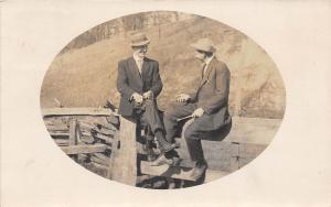 D17/ Duncan Falls Ohio Postcard Real Photo RPPC 1911 Gay Interest Zanesville