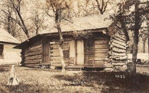 F80/ Lake Shetek Minnesota RPPC Postcard c30s Cook's Log Cabin Tepeeptah