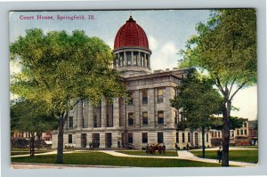 Springfield IL Historic Court House, Old State Capitol Vintage Illinois Postcard