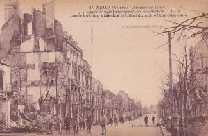 France Marne Reims Avenue de Laon After Bombardement By Germans