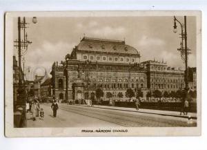 235430 CZECH PRAHA national Theatre Vintage photo postcard
