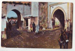 P1217 old unused postcard tetuan puerta de tanger morocco