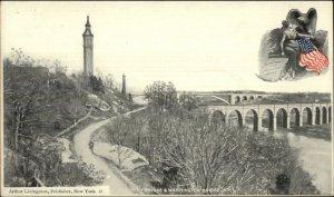 Washington Bridge New York City Arthur Livingston c1900 Postcard