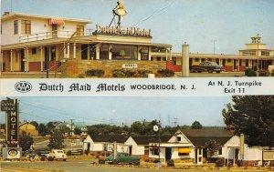Woodbridge New Jersey 1950s Postcard Dutch Maid Motel