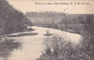 There is No Place like Cortland NY, New York - No Not One - pm 1911 - DB