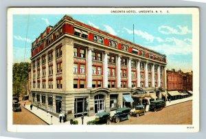 Oneonta NY-New York, Oneonta Hotel, Vintage Postcard