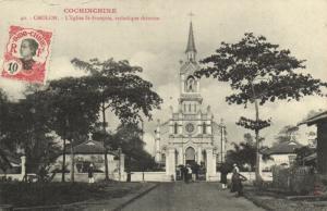 CPA Vietnam Indochine COCHINCHINE Cholon - L'Église St-François (60615)