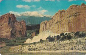 Colorado Pikes Peak Through The Gateway Of The Garden Of The Gods