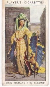 Cigarette Card Player's Dandies No 6 King Richard the Second