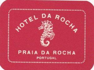 Portugal Praia Da Rocha Hotel Da Rocha Vintage Luggage Label sk2405