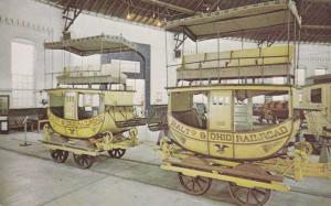 Replicas of early B&O Railway Cars - Baltimore MD, Maryland