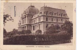LAUSANNE, Le Tribunal Federal Building, Vaud, Switzerland, PU-1919