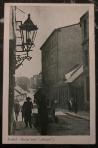 Mint Germany Real Picture Postcard Łódź Poland Jewish Ghetto Wood Street View