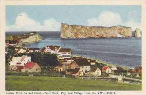 Rocher Perce Du Sud-Ouest- Perce Rock, Quebec And Village From The S. W., Can...