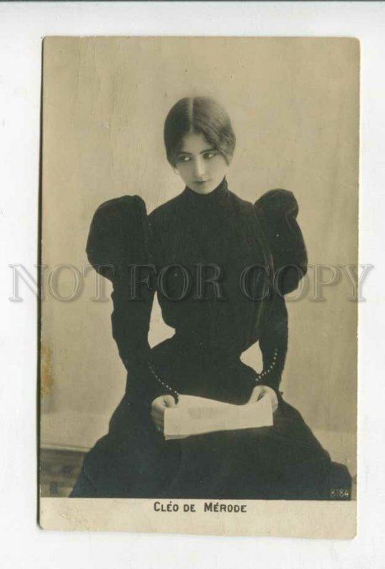 427595 CLEO DE MERODE French BALLET Dancer Black Dress PHOTO