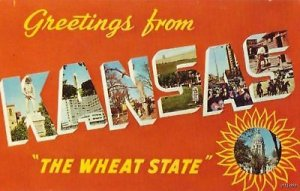DEXTER PRESS GREETINGS FROM KANSAS THE WHEAT STATE
