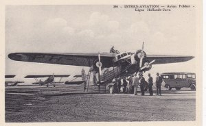 ISTRES-AVIATION - Avion Folker - Ligne Hollande-Java , 1920-30s