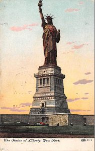 Statue of Liberty Post Card New York City, USA 1910